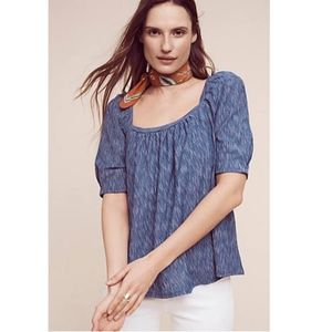 Postmark Anthropologie Darra Peasant Top